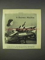 1940 International Business Machines / IBM Ad