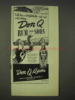 1940 Don Q Rum Ad - Cool Refreshing Rum and Soda