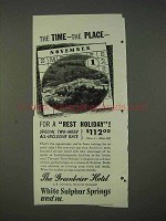 1940 The Greenbrier Hotel Ad - The Time The Place