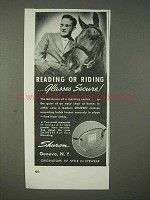 1940 Shuron Shurset Glasses Ad - Reading or Riding
