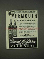 1940 Great Western American Vermouth Ad - More Than Ever