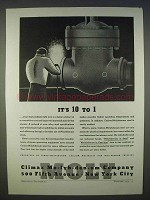 1939 Climax Molybdenum Ad - It's 10 to 1