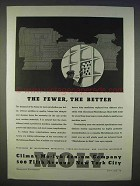 1939 Climax Molybdenum Ad - The Fewer, The Better