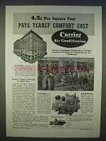 1939 Carrier Air Conditioning Ad - Yearly Comfort Cost