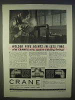 1939 Crane Plumbing Ad - Socket Welding Fittings