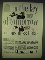 1939 Mimeograph 90, 91, 92, 100 Ad - Key of Tomorrow