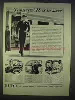 1939 Budd All-Chair Train Ad - Collected in My Sleep