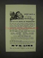 1939 NYK Line Cruise Ad - Every Day's A Holiday