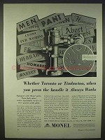 1938 International Nickel Monel Ad - Toronto Timbuctoo