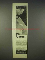 1938 Chesapeake and Ohio Lines Railroad Ad - Control