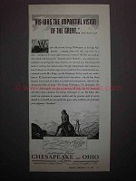 1938 Chesapeake and Ohio Lines Railroad Ad - Impartial