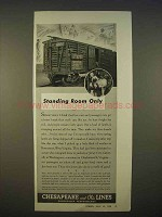 1938 Chesapeake and Ohio Lines Railroad Ad - Standing