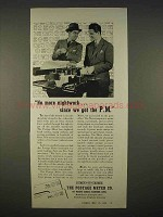 1938 Pitney Bowes Postage Meter Ad - No Nightwork