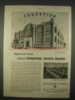 1938 IBM Ad - Schoolhouse Endicott, New York