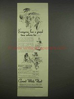 1938 Great White Fleet Cruise Ad - Grand Time Ashore