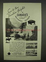 1938 Canadian Travel Bureau Ad - Soar to New Heights