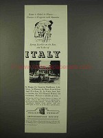 1938 Italy Tourism Ad - Rome is Robed in Flowers