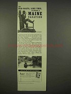 1938 Maine Tourism Ad - Old Salts Flavor a Vacation