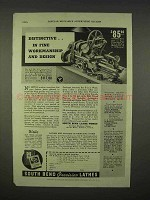 1938 South Bend 415-YA Workshop Bench Lathe Ad - Distinctive