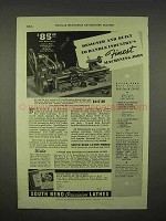 1938 South Bend 415-YA Workshop Bench Lathe Ad