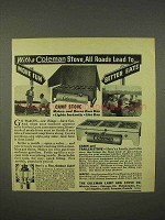 1938 Coleman Camp Stove, Cabin & Trailer Stove Ad