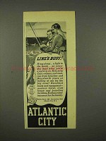 1938 Atlantic City New Jersey Ad - Line's Busy