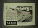 1938 Oregon Tourism Ad - Highway Along Blue Pacific