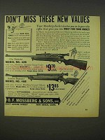 1938 Mossberg Rifle Ad - Model No. 42B, Model No. 46B