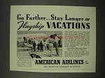 1938 American Airlines Ad - Flagship Vacations