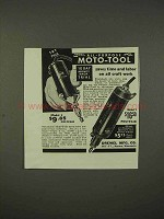 1938 Dremel Moto-Tool Model 1, Model 2 Ad - Saves Time
