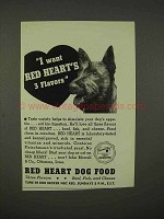 1938 Red Heart Dog Food Ad - I Want 3 Flavors