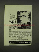 1938 Tennessee Department of Conservation Ad - Must See