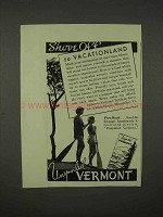 1938 Vermont Tourism Ad - Shove Off to Vacationland