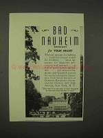 1938 Bad Nauheim Germany Ad - For Your Heart