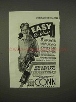 1938 Conn Saxophone Ad - Easy to Play