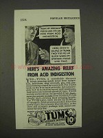 1938 Tums Ad - Amazing Relief From Acid Indigestion