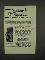 1938 Rollei Rolleicord Camera Ad - Perfect Pictures