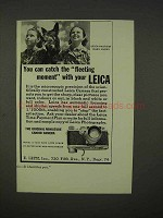 1938 Leica Camera Ad - Catch the Fleeting Moment
