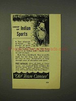 1938 Old Town Canoes Ad - Chief of Indian Sports