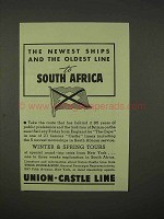 1938 Union-Castle Line Cruise Ad - To South Africa