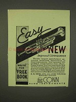 1938 Conn Trumpet Ad - New Improved Connqueror