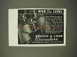 1938 Bausch & Lomb Binoculars Ad - High See Level