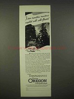 1937 Oregon Tourism Ad - Carpeted With Wild Flowers