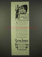 1937 South Africa Tourism Ad - Interesting Country