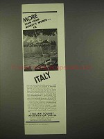 1937 Italy Tourism Ad - More Than Your Money's Worth