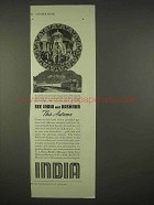1937 India Tourism Ad - See India and Kashmir