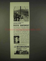 1937 Milwaukee Road Railroad Ad - Pacific Northwest