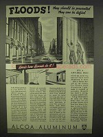 1937 Alcoa Aluminum Ad - Floods Should be Prevented
