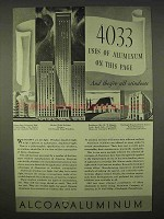1937 Alcoa Aluminum Ad - 4033 Uses On This Page