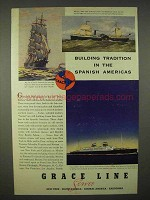 1937 Grace Line Cruise Ad - Tradition Spanish Americas